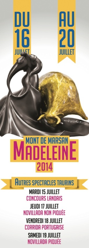 image : Affiche autres spectacles taurins Madeleine 2014